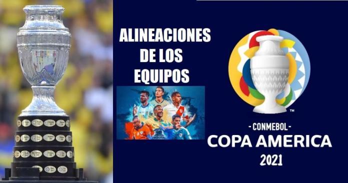 Alineaciones Copa América 2021 | Once iniciales de los equipos