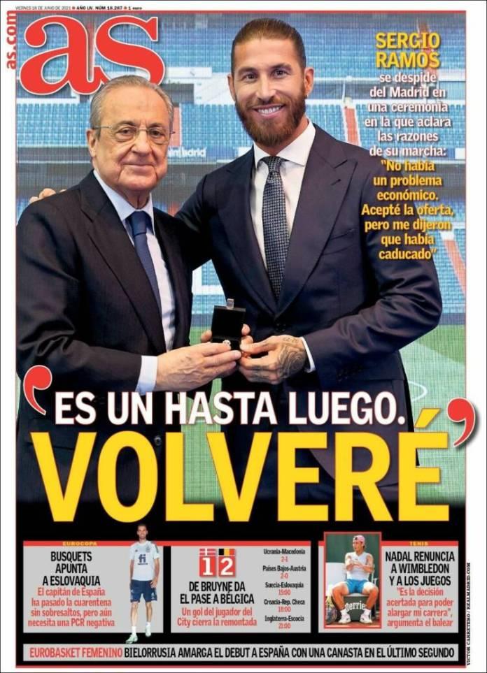 Portadas Diarios Deportivos Viernes 18/6/2021