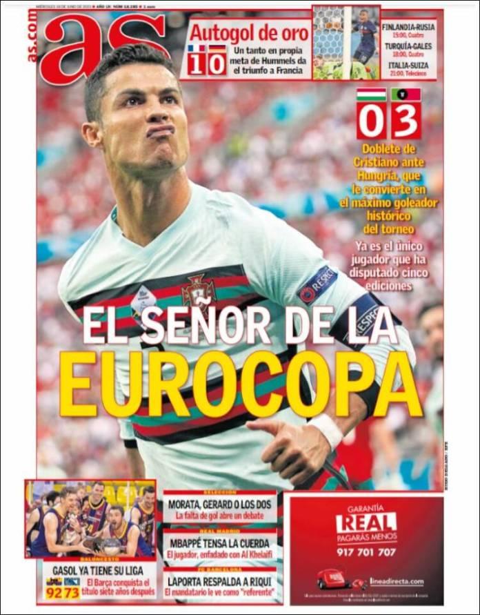 Portadas Diarios Deportivos Miércoles 16/6/2021