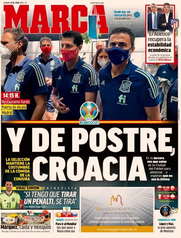 Portadas Diarios Deportivos Sábado 26/6/2021
