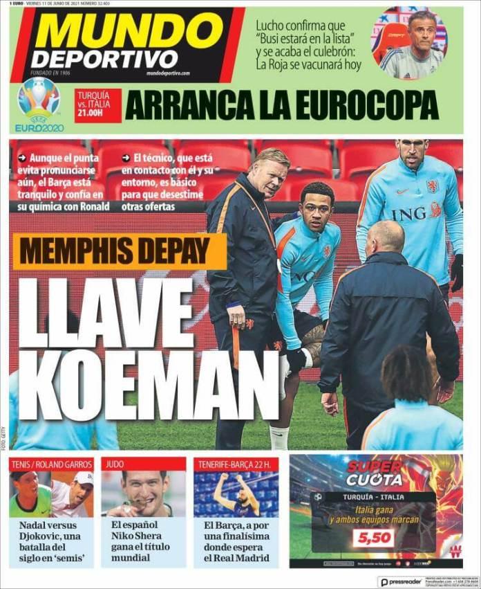 Portadas Diarios Deportivos Viernes 11/6/2021