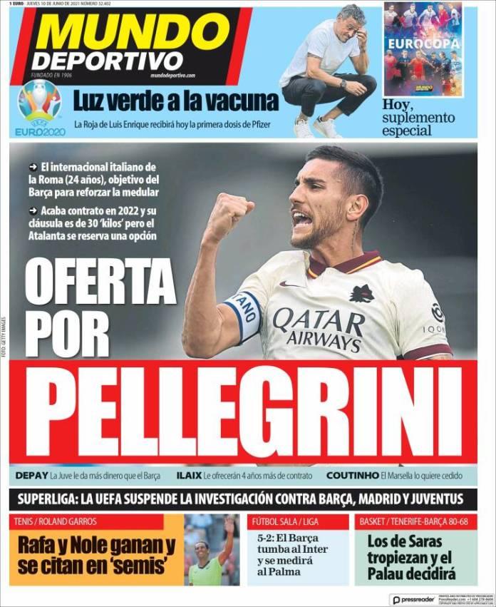 Portadas Diarios Deportivos Jueves 10/6/2021