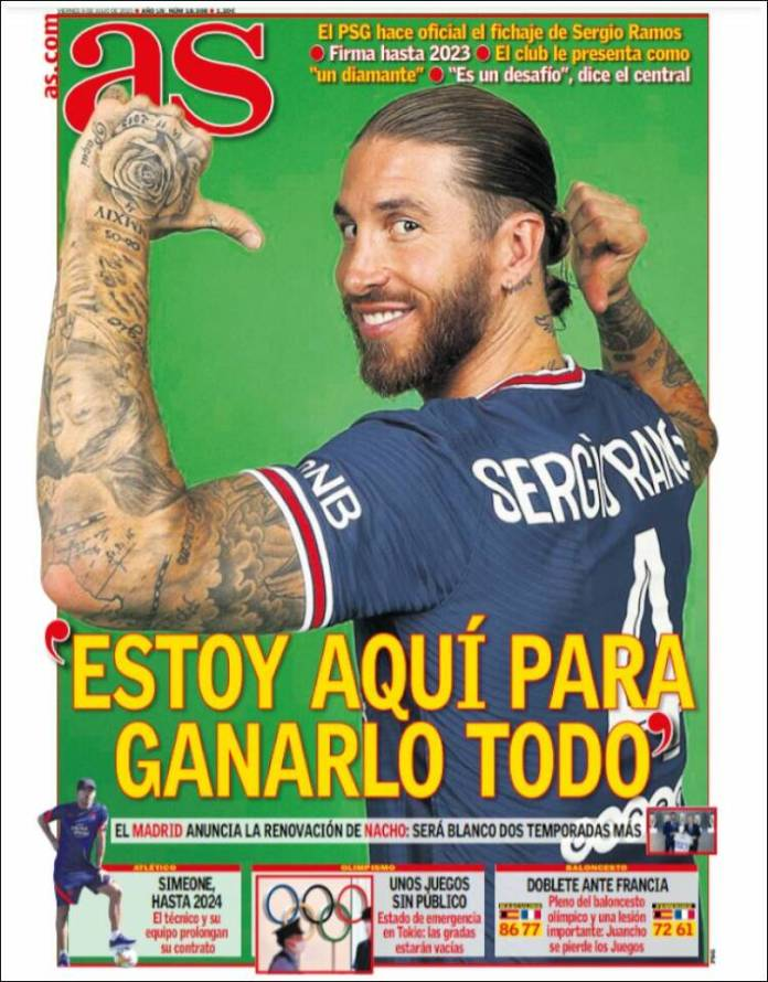 Portadas Diarios Deportivos Viernes 9/7/2021