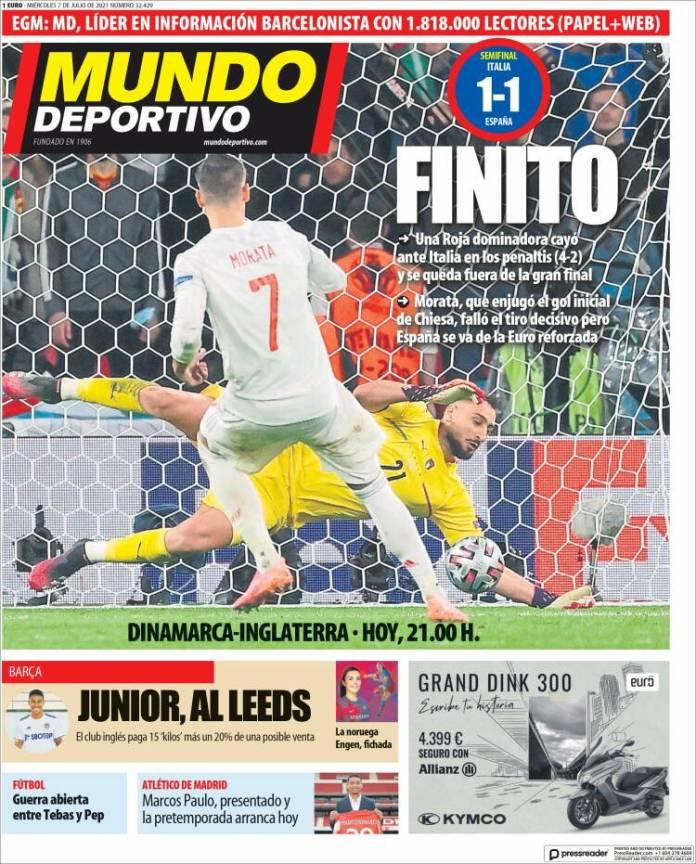 Portadas Diarios Deportivos Miércoles 7/7/2021
