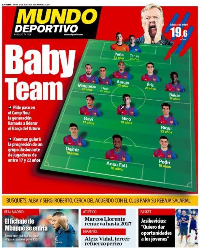 Portadas Diarios Deportivos Jueves 19/8/2021