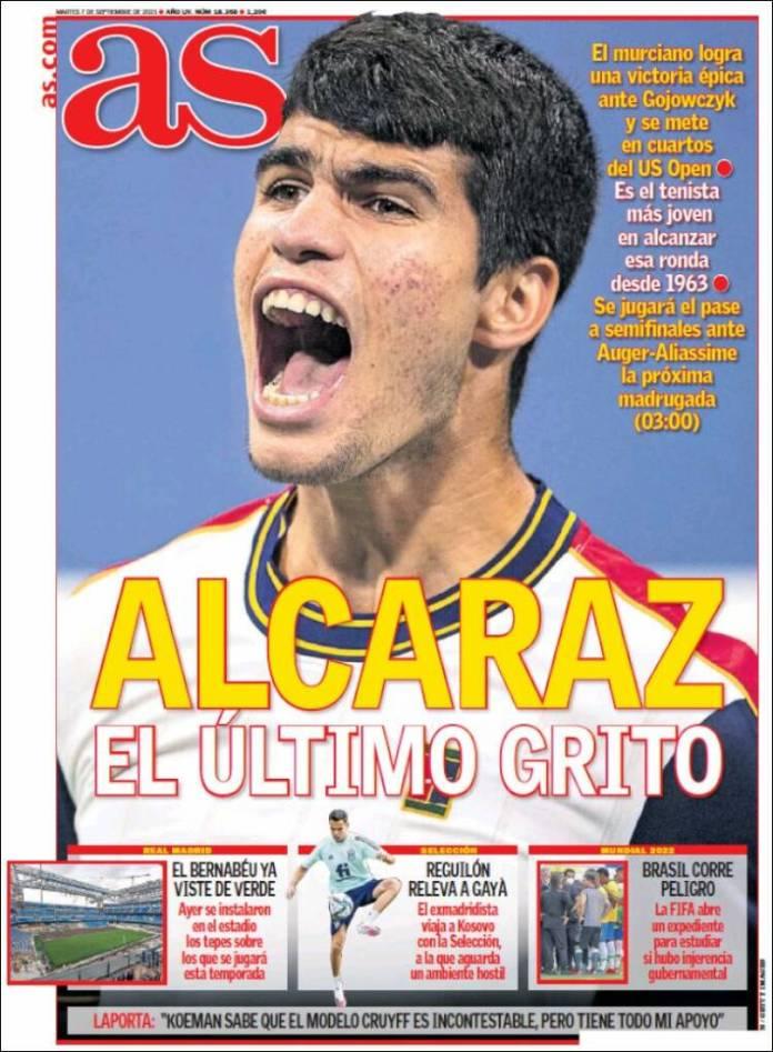 Portadas Deportivas de España 7/9/2021