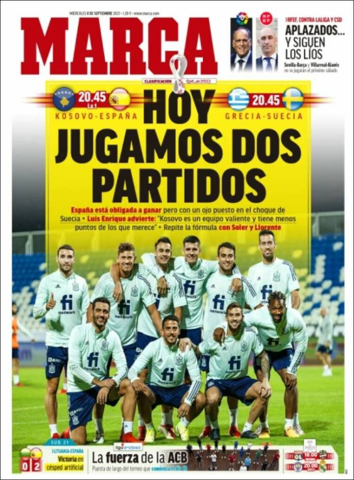 Portadas Deportivas de España 8/9/2021
