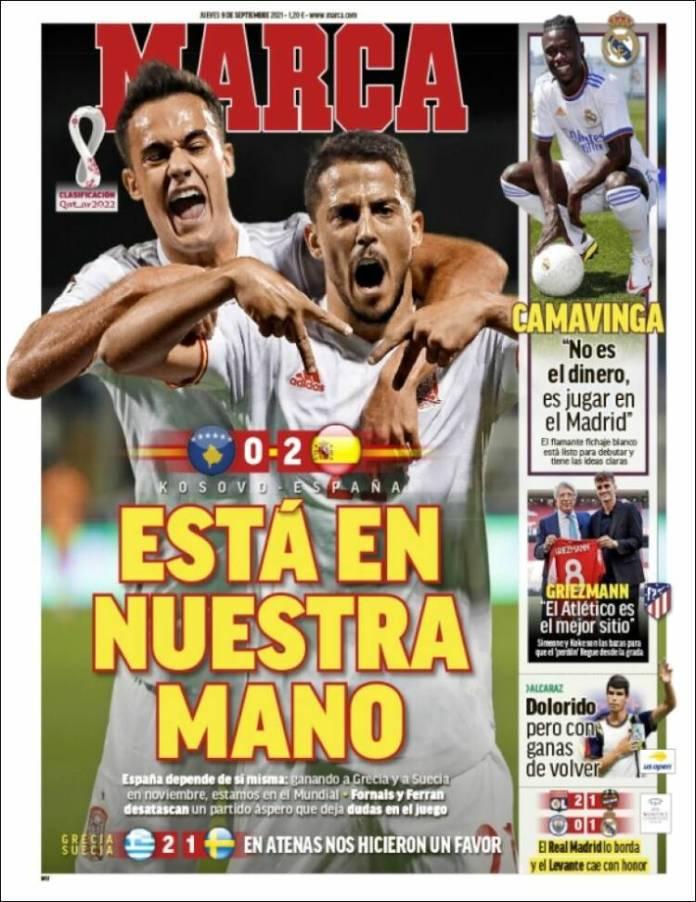 Portadas Deportivas de España 9/9/2021