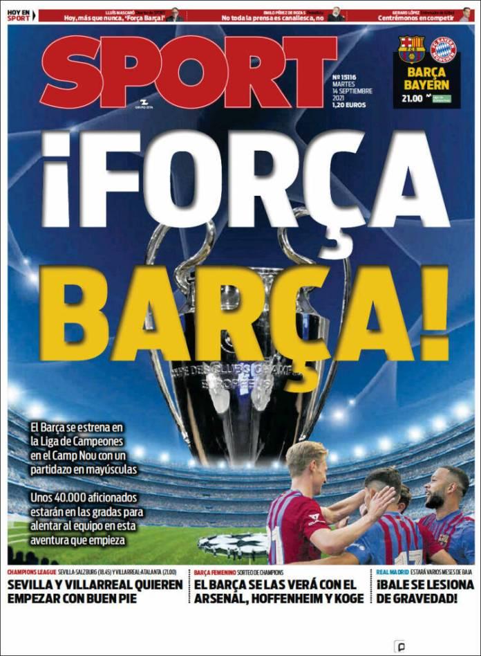 Portadas Deportivas de España 14/9/2021