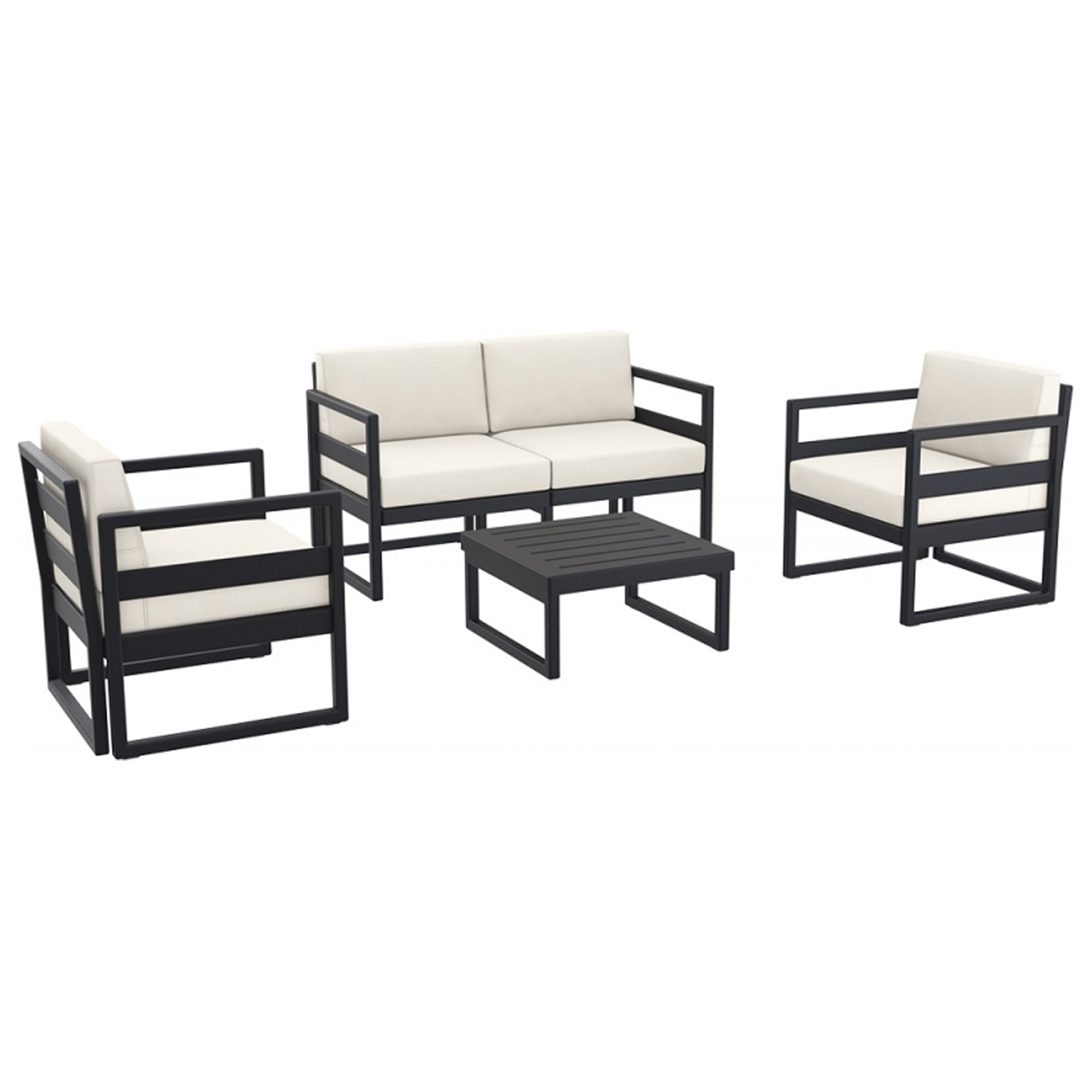 neo 200132e plastic pp sofa set for patio garden