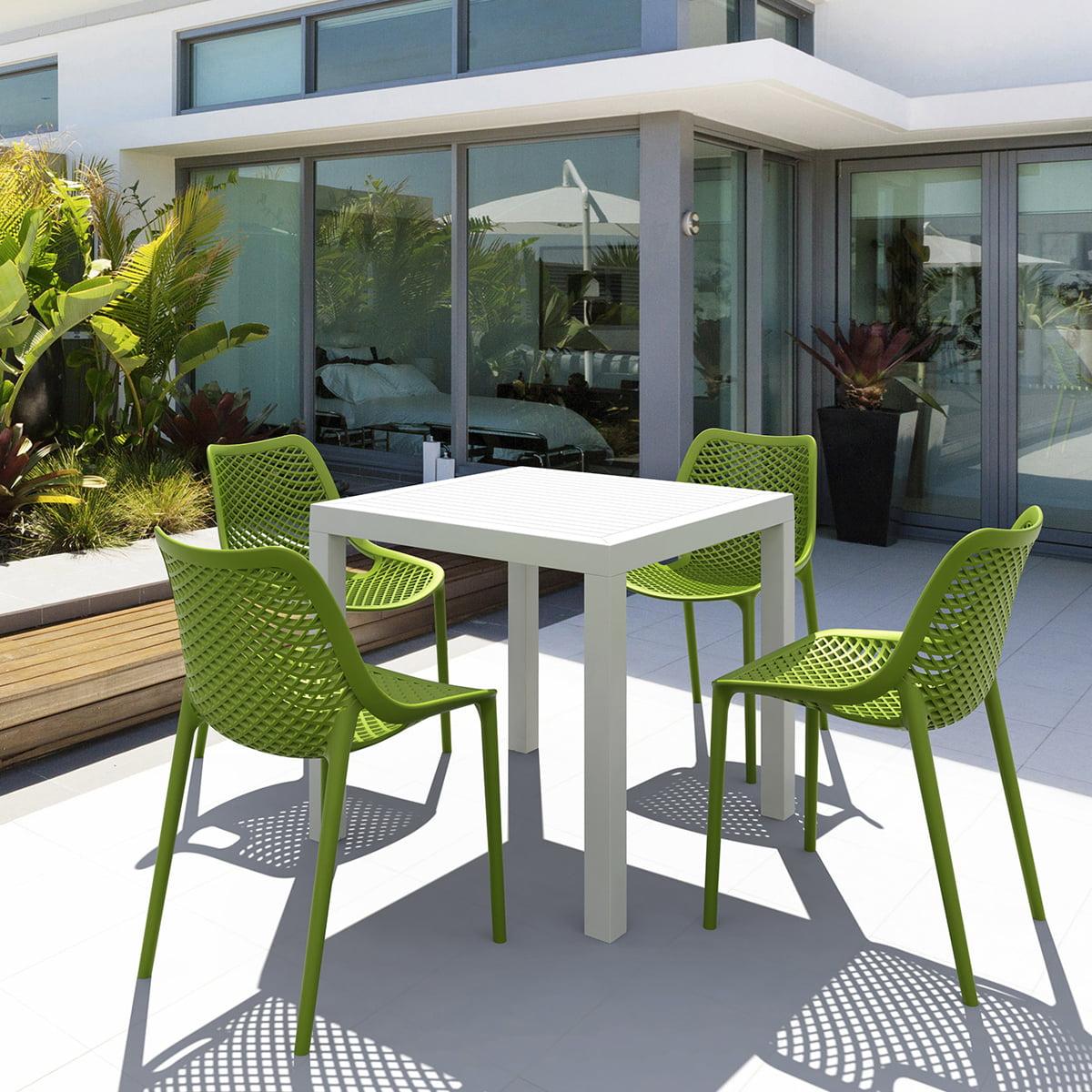neo 200164e garden patio square plastic table