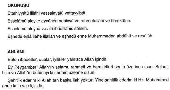 ettehiyyatü duası türkçe yazılışı okunuşu ve anlamı