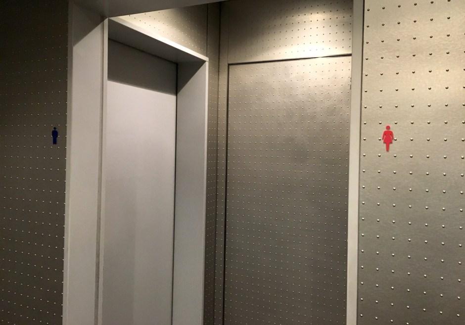 東京の駐車場のトイレ