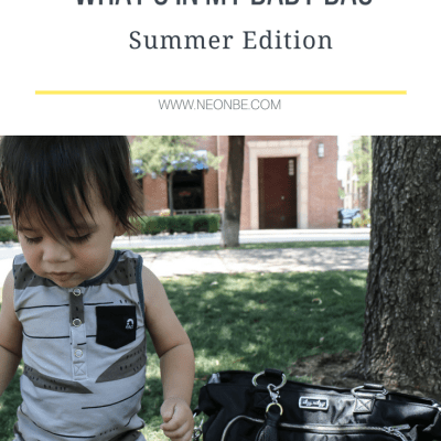 Whats In My Baby Bag- Summer Edition Plus Giveaway!