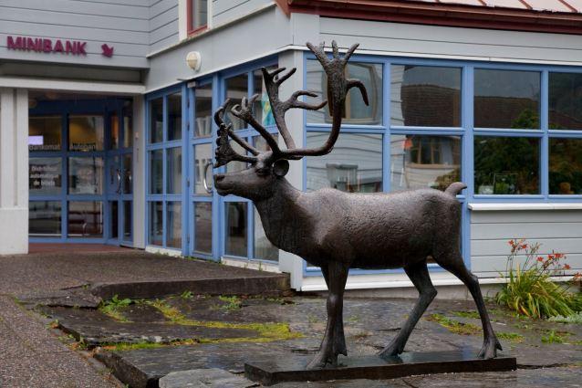 Aurlandsvangen, Statue