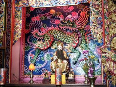 Inside Fushan Temple