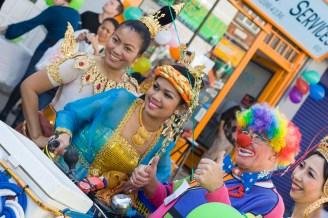 Thai Women And Clown