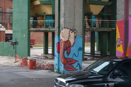 Overpass Pillar Street Art
