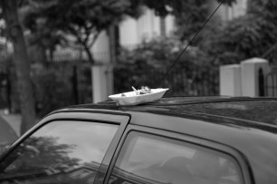 Discarded Food On Car