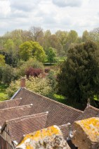 Coughton Court Rooftop View