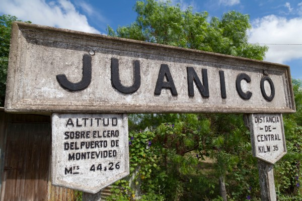 Juanico Train Station Sign
