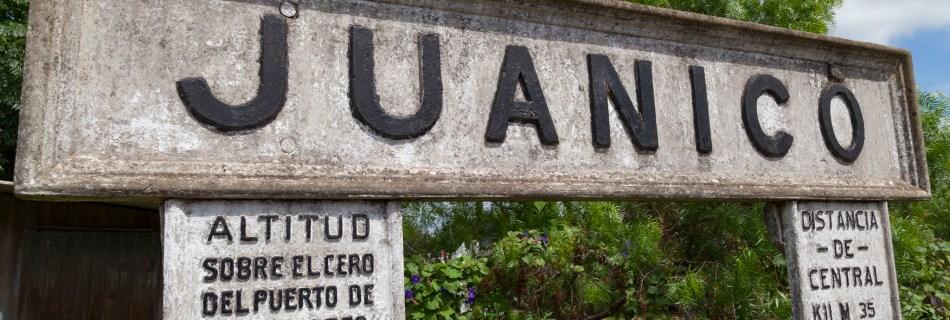 Juanico Train Station Sign