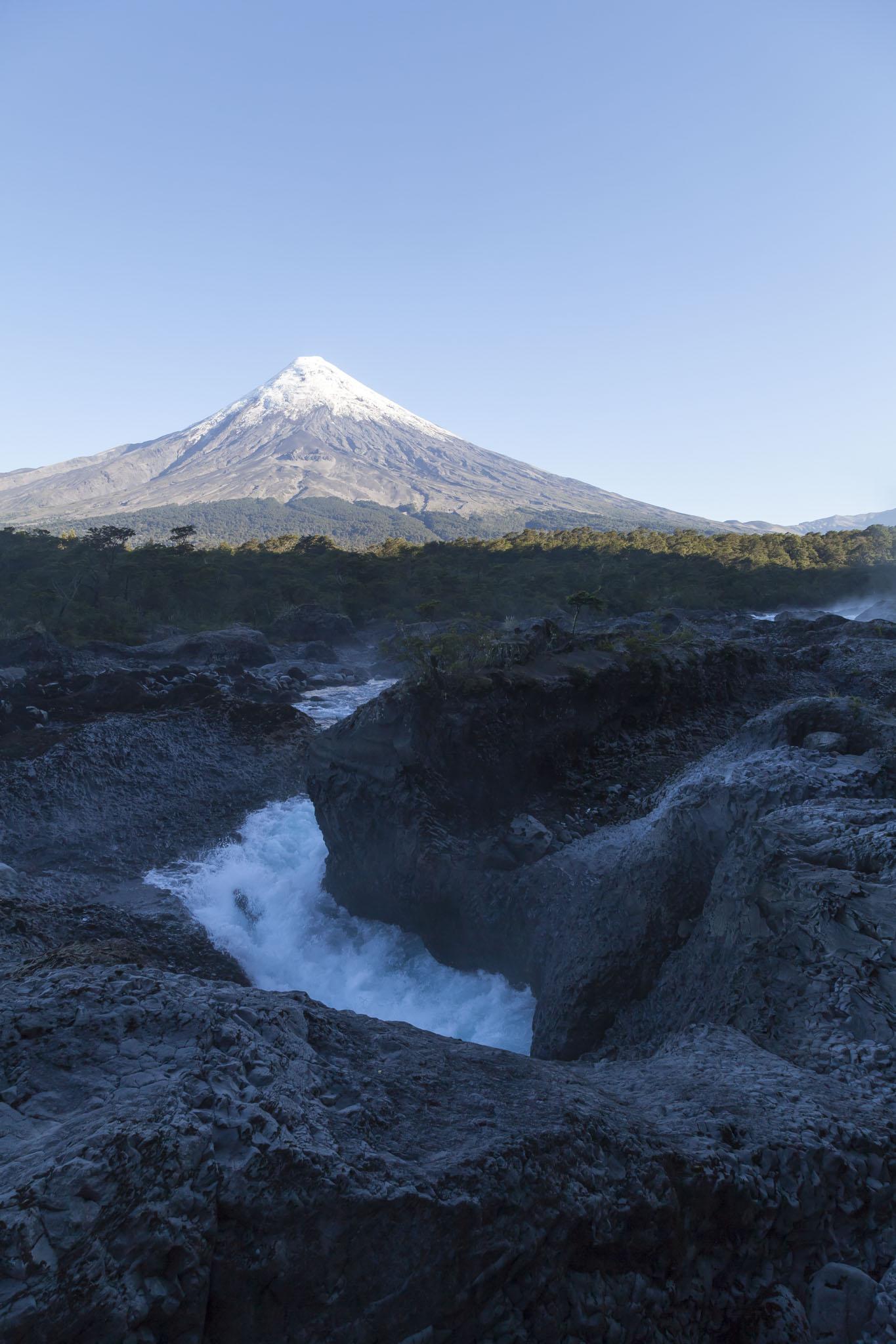 Petrohué Waterfalls And Osorno