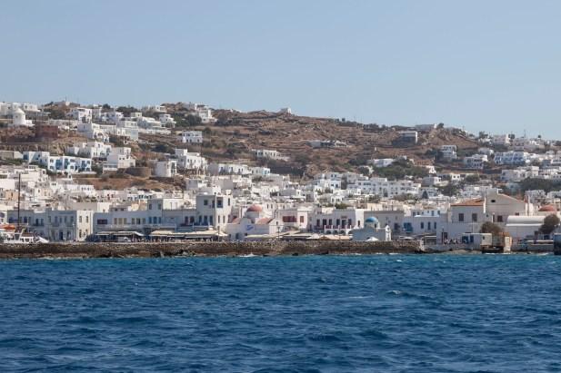 Mykonos From Boat