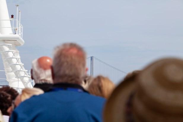 Approaching The Great Belt Bridge