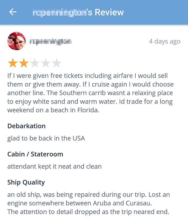 Cruise Review