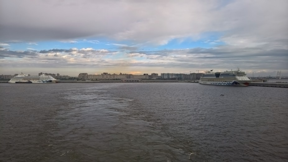 Leaving Saint Petersburg Port