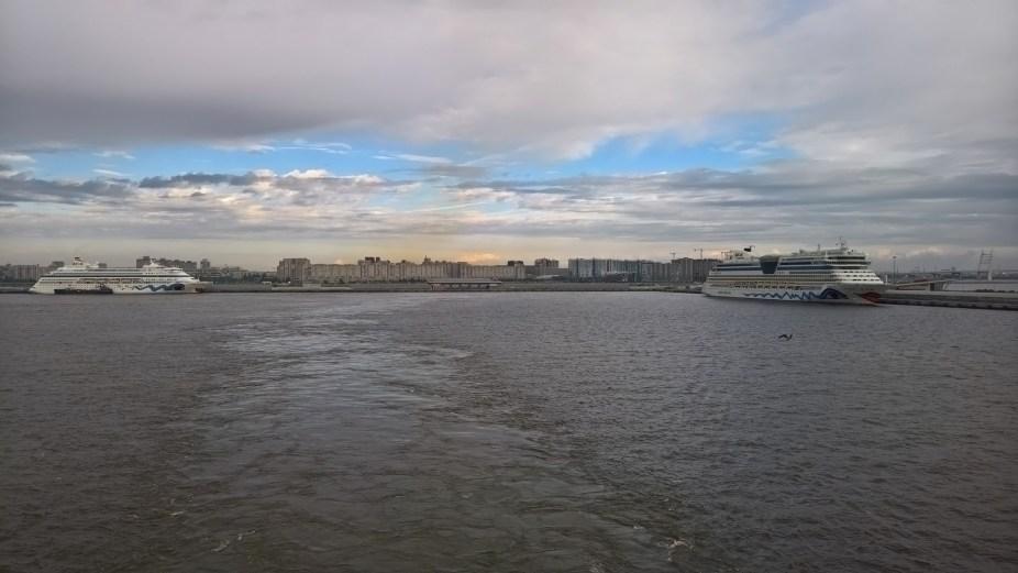 Leaving Saint Petersburg Port