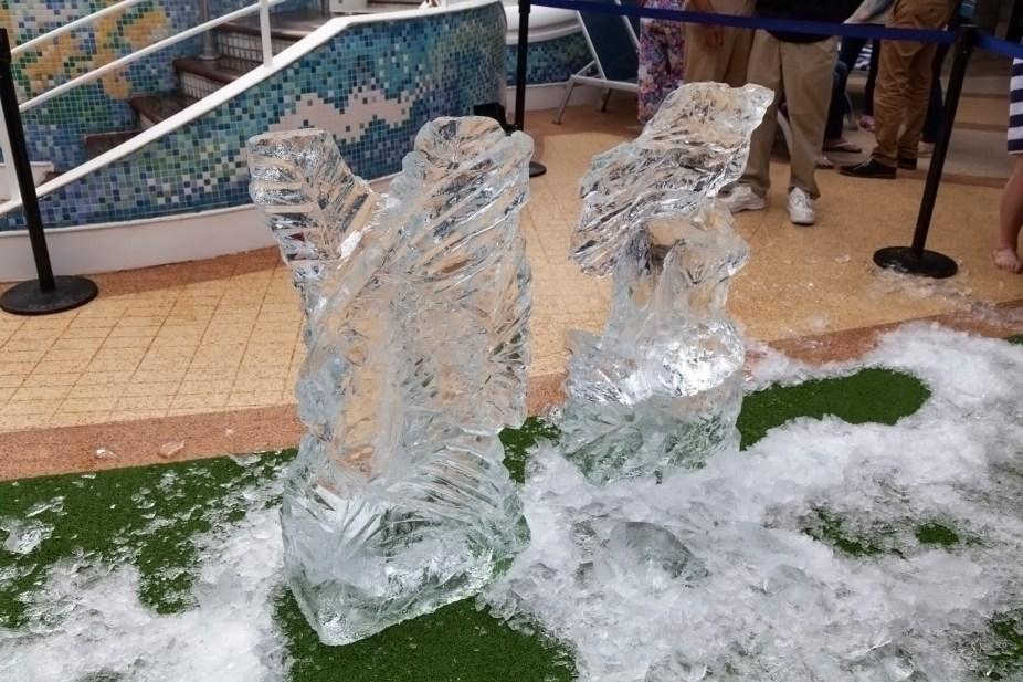 Sapphire Princess Ice Carving