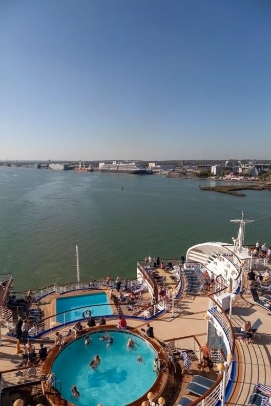 Sapphire Princess Leaving Southampton