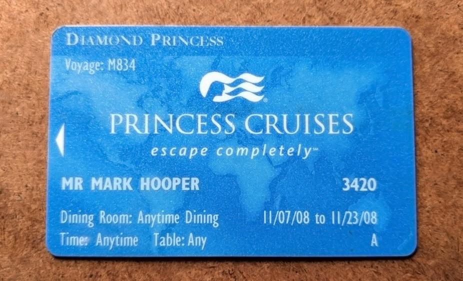 Diamond Princess Cruise Card