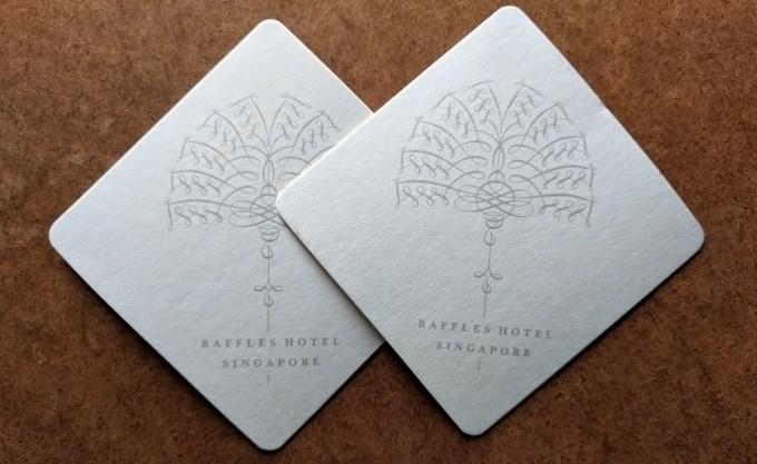 Raffles Hotel Coasters