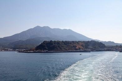 Leaving Sakurajima