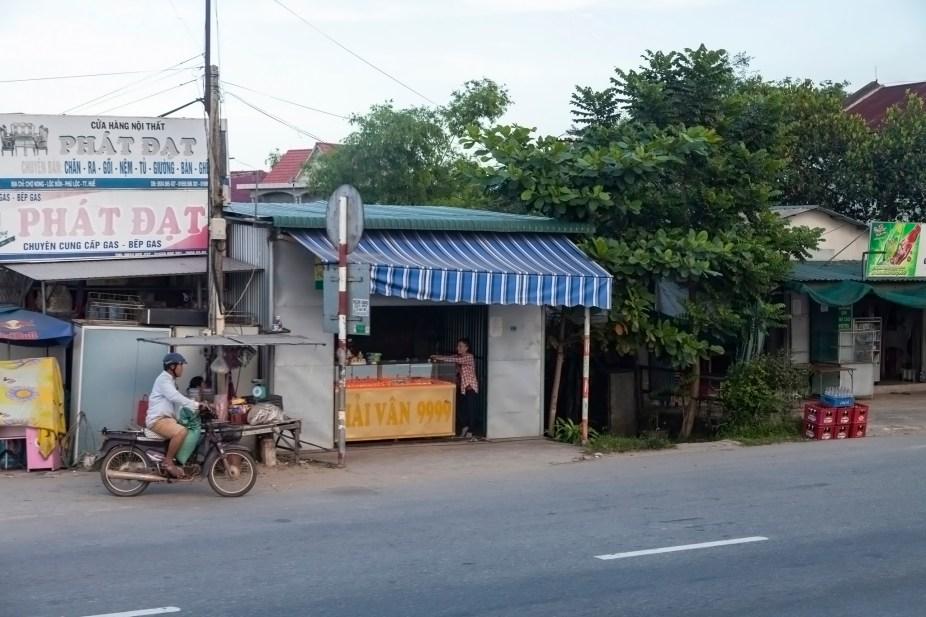 Vietnamese Roadside Building
