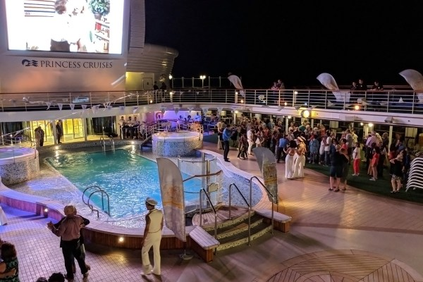 Star Princess Cruise Ship Deck Party