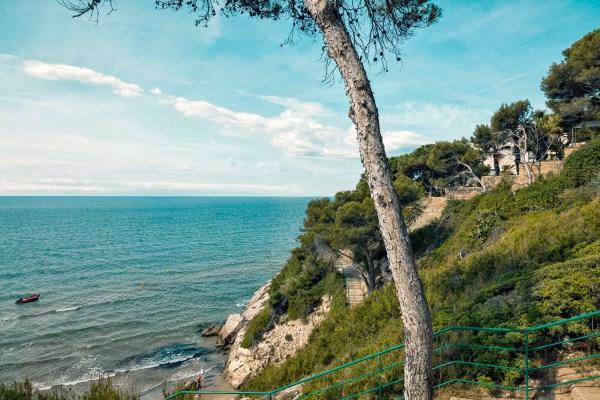 Spanish Coastline, Teal Tone