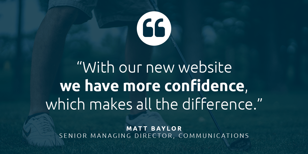 """CDGAF Quote: """"With our new website we have more confidence, which makes all the difference."""""""