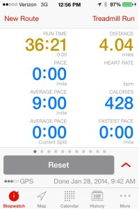 Tuesday's Treadmill Run