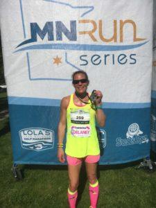 Lola's Half Marathon Finish Photo