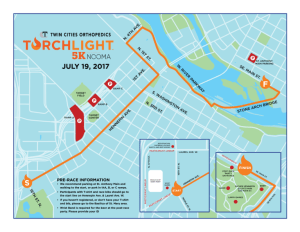 Twin Cities Orthopedics 2017 Torchlight 5k Course Map