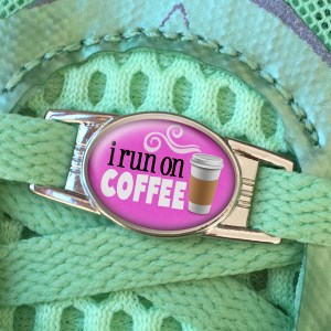 I Run On Coffee Shoe Charm or Zipper Pull from Charmed Running