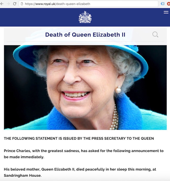 the official statement was released at the request of prince charles by the queens press secretary