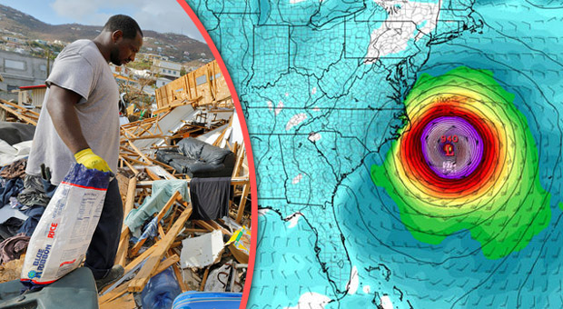 hurricane maria heads for the us east coast after devastating the caribbean