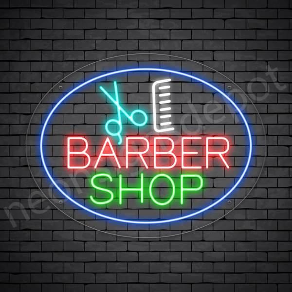 Barber Neon Sign Barber Shop King - Transparent
