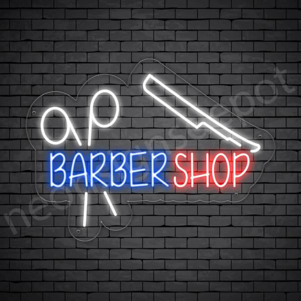 Barber Neon Sign Cut Your Hair Transparent - 24x18
