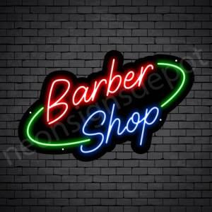 Barber Neon Sign King Barber Shop Black - 24x15